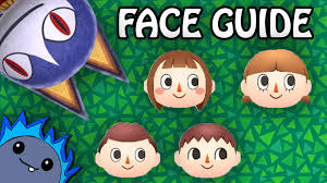 acnl starter hair guide complete face guide animal crossing new leaf youtube