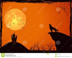 castle and wolf on halloween night stock vector image 57081438