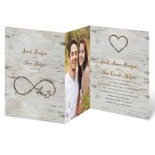 wedding invitations with photos for infinity zfold invitation invitations by