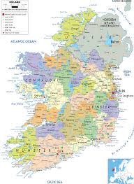 Political Maps Detailed Clear Large Map Of Ireland Ezilon Maps