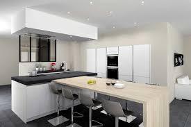 cuisine avec ilot central et table modele de cuisine moderne avec ilot modele de cuisine moderne avec