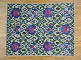 Arts And Crafts Rug 8 U0027 X 10 U0027 Pure Wool Modern Arts And Crafts Peshawar Handmade