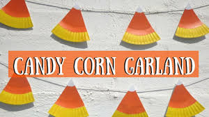 Candy Crafts For Halloween by Candy Corn Garland Halloween Crafts For Kids Youtube