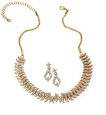 earring necklace rhinestone images Grapevine rhinestone necklace earring set avon store png