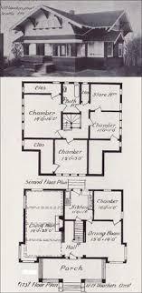 build blueprints early 1900 s bungalow plan style gable house blueprint how