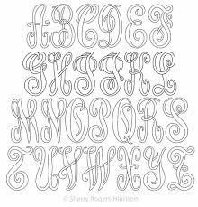 monogramed letters monogram letters set digital quilting designs