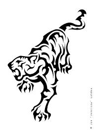 simple tribal tiger designs