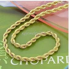 wholesale chain necklace images Wholesale low price 14k yellow gold filled 24 knot mens rope jpg