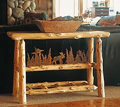 Cabin Sofa Cuyuna Sofa Table Rustic Furniture Mall By Timber Creek