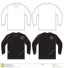 black white long sleeve t shirt design template stock vector