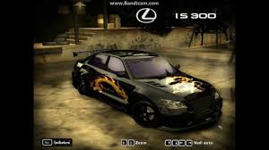 tuned lexus is300 need for speed most wanted tuning lexus is 300 youtube