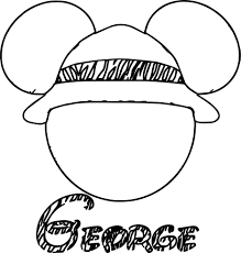 george draw mickey mouse face coloring page wecoloringpage