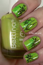 bamboo nails i like to idea to stamp the same design twice with