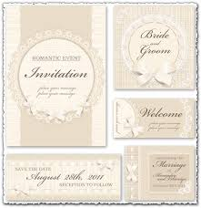 Classic Wedding Invitations Wedding Invitation Vectors