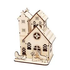aliexpress com buy 2017 cute mini wood house christmas