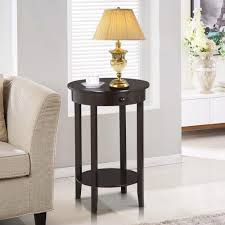 Tall Coffee Table amazon com yaheetech round side table with drawer and storage