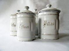 french enamelware mint green kitchen canisters set french decor