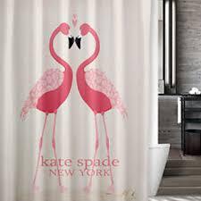 Kate Spade Striped Shower Curtain Shop Flamingo Shower Curtain On Wanelo