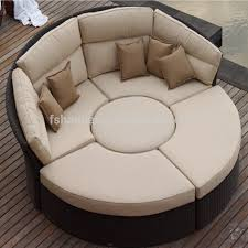Sofa Bed For Bedroom by Outdoor Rattan Wicker Garden Furniture Set Round Sofa Bed For