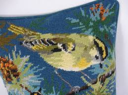 needlepoint tapestries gold crest vintage wool tapestry