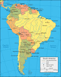 anerica map south america map and satellite image