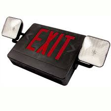 nfpa 101 emergency lighting black led exit emergency light red letters