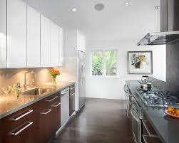 kitchen glamorous nice white nice brown two toned sleek wooden