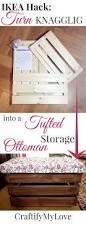 Make Storage Ottoman by Ikea Hack Tufted Storage Ottoman Craftify My Love