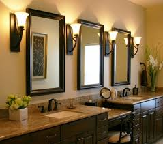 bathroom vanity mirror and light ideas bathroom mirror frames and wall sconces with vanity tops also