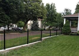 how to diy install iron fence or aluminum fence on a hill slope