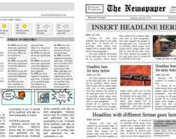 bold and beautiful four page newspaper template instant