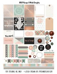 erin condren life planner free printable stickers free printable bronze mint sler for the erin condren life