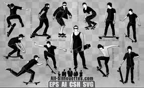 Vector Skateboarder Silhouette All Silhouettes