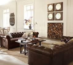 chesterfield sofa in living room living room pottery barn chesterfield sofa lovely in square as
