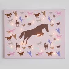 girl horse wall art cowgirl bedroom decor baby girl nursery horse illuminated canvas girls bedroom or nursery picture from 47 95