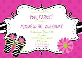invitations for 13th birthday party zebra print pool party birthday invitation pool party