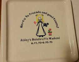 bridal shower autograph plate guest book plate etsy