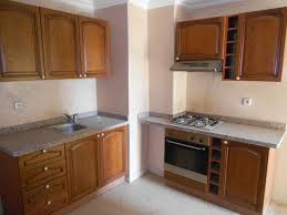Empty Kitchen Rental Appartment 2 Rooms Victor Hugo Marrakech Real Estate Agency
