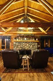 open ceiling log beams