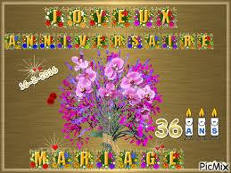 36 ans de mariage anniversaire de mariage 36 ans picmix