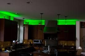 Led Lights Kitchen Cabinets Green Led Over Kitchen Cabinet Lighting With Pendant Light Over