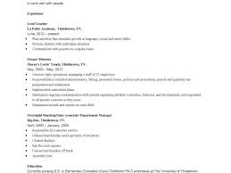 early childhood education resume sample kindergarten teacher