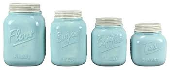 canisters kitchen ceramic kitchen canister sets 4 piece ceramic mason jar canister set