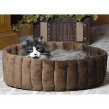Cat Gyms K U0026h Kitty Cup Tan U0026 Mocha Cat Bed Petco