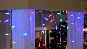 Multi Color Icicle Lights Gemmy Lightshow Multicolor Led Icicle Light Strings Youtube