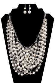fashion pearl necklace set images Waterfall pearl necklace set riah fashion jpg