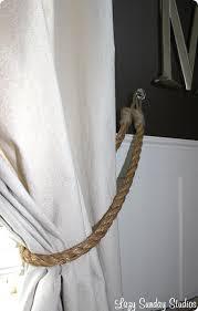 Rope Curtain Tie Back Diy Rope Curtain Tiebacks