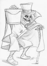 sometimes i draw things hatbox ghost sketch