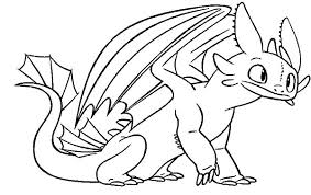 toothless sit calmly train dragon coloring pages