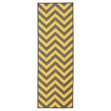 Yellow Runner Rug Runner Non Slip Backing Synthetic Area Rugs Rugs The